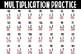 3 digit by 1 digit Multiplication Practice Sheet
