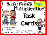 3 digit by 2 digit Multiplication Practice- Secret Message