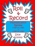3-digit by 2-digit Multiplication - Roll and Record Activity Center