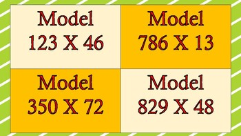 3 digit by 2 digit multiplication Task Cards