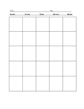 3-digit more/less worksheet
