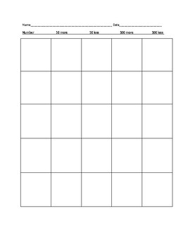 3-digit more/less worksheet