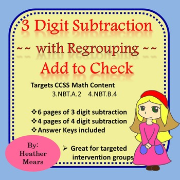 Subtraction with regrouping - add to check
