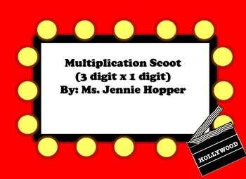 3 digit x 1 digit Multiplication Scoot