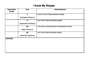 3-Dimensional Shapes Assessment Kit