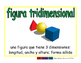 3-dimensional figure/figura tridimensional geom 2-way blue/verde