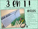 3 en 1 - 3 activités pour la rentrée scolaire - Modifiable
