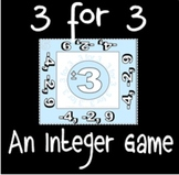 3 for 3 - An Integer Review Game