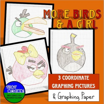 Coordinate Graphing Pictures:  More Birds...Two Boys and a Girl