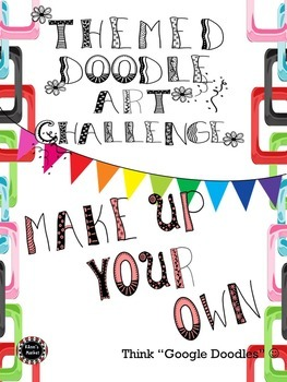 """BUNDLED Editable """"Themed Doodle Art Contests"""" 4 in 1 For Entire Year"""
