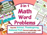3-in-1 Multi Step Math Word Problems - Bundled!