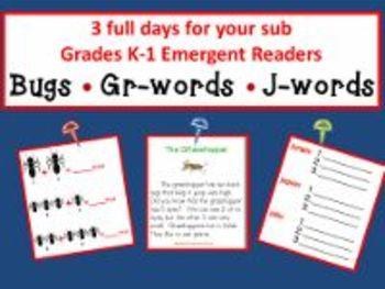 3 full days for K-1/Bugs; Gr-Words; J-Words