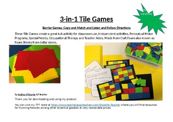 3-in-1 Tile Games to Build Working Memory (Executive Function