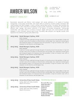 3 in 1 modern chart Word resume
