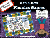 3-in-a-Row Phonics Games (practice long vowels, digraphs and diphthongs)