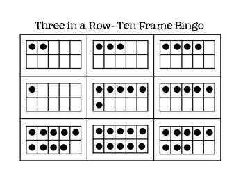 3 in a Row- Ten Frame Bingo