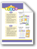 3-in-a-row Bingo (High-Frequency Words: Center Games, Level B)