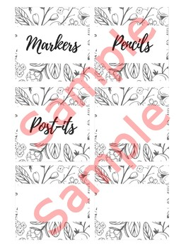 3 in x 3 in Editable Labels - Farmhouse Theme - Fits Target Dollar Spot