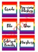 3 in x 3 in Editable Labels - Rainbow Theme - Fits Target Dollar Spot