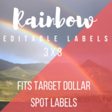 3 in x 3 in Editable Labels - Rainbow Theme - Fits Target