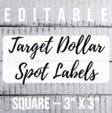 3 in x 3 in Editable Labels - Shiplap Theme - Fits Target