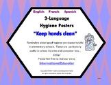 3 language Hygiene posters