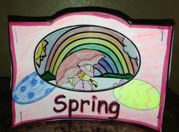 3 layer Scenic Spring Art Project
