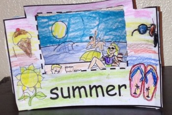 3 layer  Scenic Summer Art Project