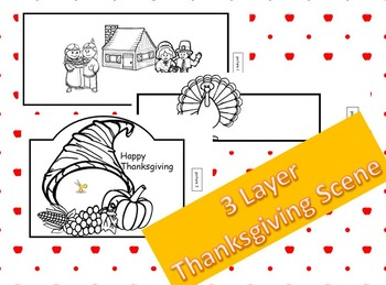 3 layer Thanksgiving Scene