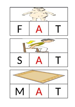3 letter -at words puzzles plus tracing and coloring worksheets
