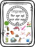 3 letter blends trigraphs word list and worksheets