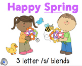 3 letter /s/ blends PowerPoint...Happy Spring!