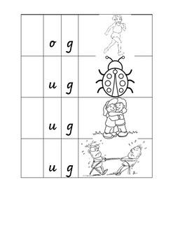 3 letter word family 'g'