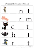 3 letter word phonics worksheets A to Z