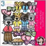 3 Little Kittens clip art - Melonheadz clipart