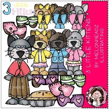 3 Little Kittens clip art - Combo Pack - Melonheadz Illustrating