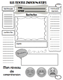3 pack of Open-Ended Reading Assessments for any Text or Article (French)
