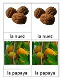 3 part Montessori cards in SPANISH - FRUTAS parte 2