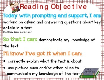 """""""3 part"""" Objectives Reading Foundational Skills, Informational, and Literature"""