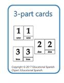 3-part cards números 1-20