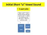 "3-part cards---reading --- Short ""u"" Initial Vowel Sound"