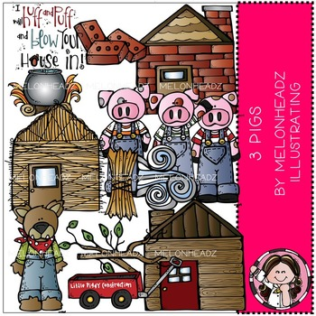 Melonheadz: 3 Pigs clip art