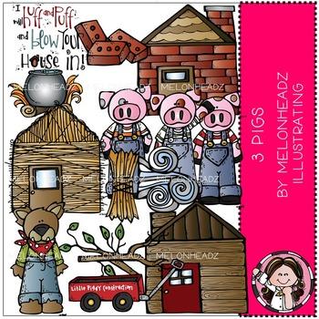 3 Pigs clip art - Melonheadz Illustrating