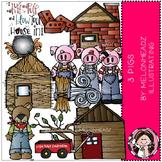 3 Pigs clip art - Melonheadz clipart