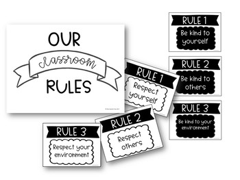 3 classroom rules for respect & kindness