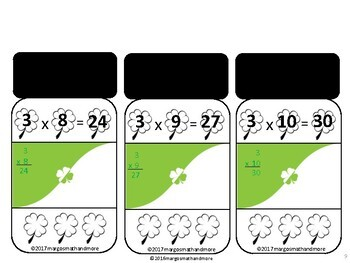 3's A Charm 3x Facts Multiplication Game-level 1 Only