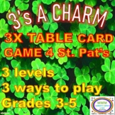3's A Charm St. Patrick's Multiplication Leveled Card Games