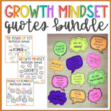 Bundle of Growth Mindset Bulletin Board Quotes
