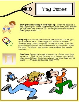Physical Education - 3 simple easy tag games
