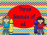 3 sounds of ed PowerPoint and Activities